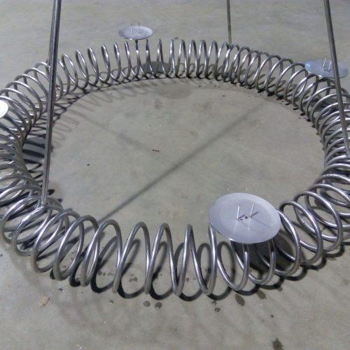 Adventskrans i jern lavet i spiral - stor model
