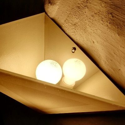 Eksempel paa Kunst og jern - Lampe i glas og jern - set ovenfra