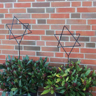 Stjerne paa jernpind til lyskaede