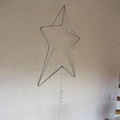 Stor topstjerne i jern til stort juletrae