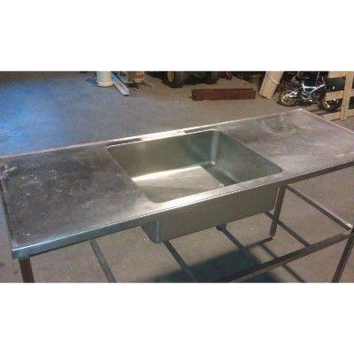 Understel i rustfri staal til bordplade